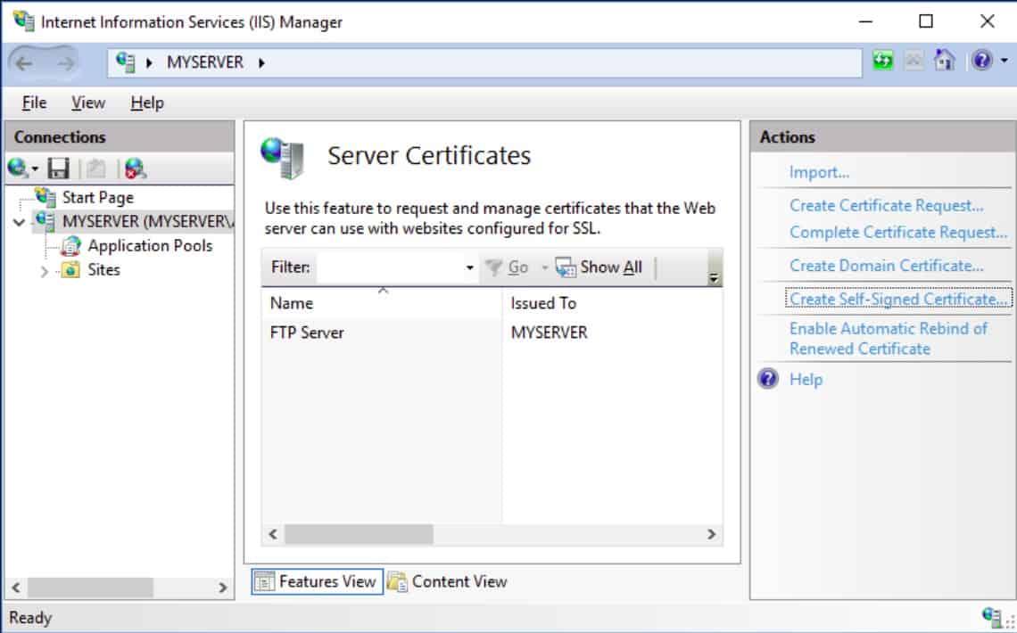 IIS FTPS Server