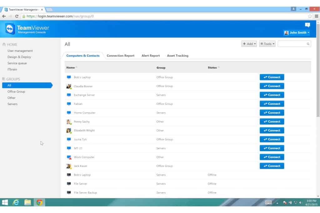 Teamviewer desktop sharing