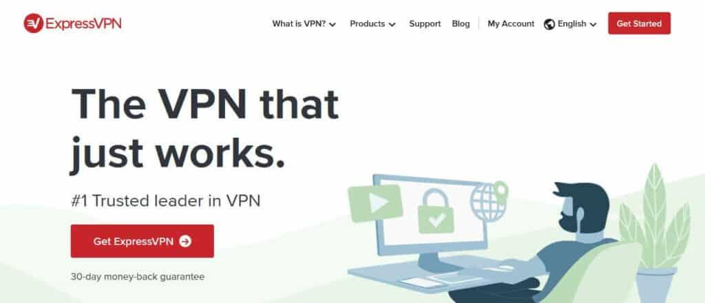 ExpressVPN homepage.
