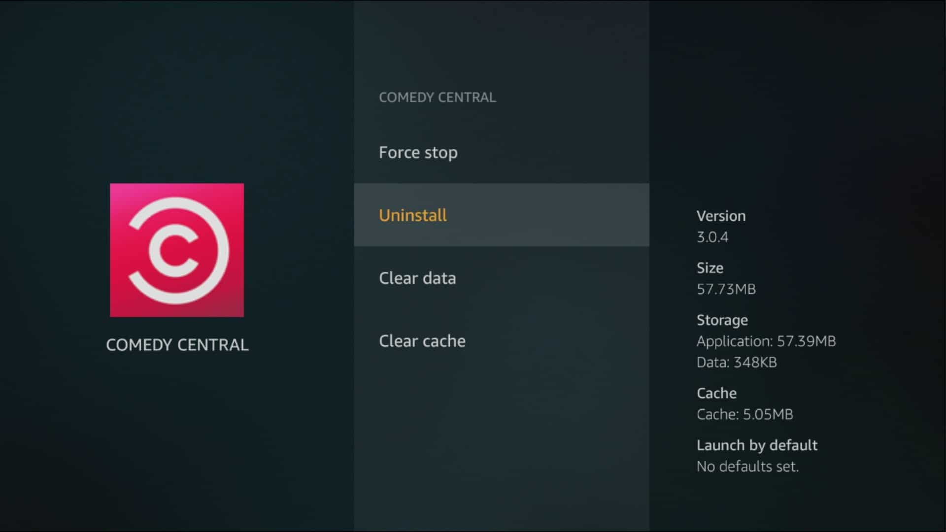 fire tv app stop uninstall