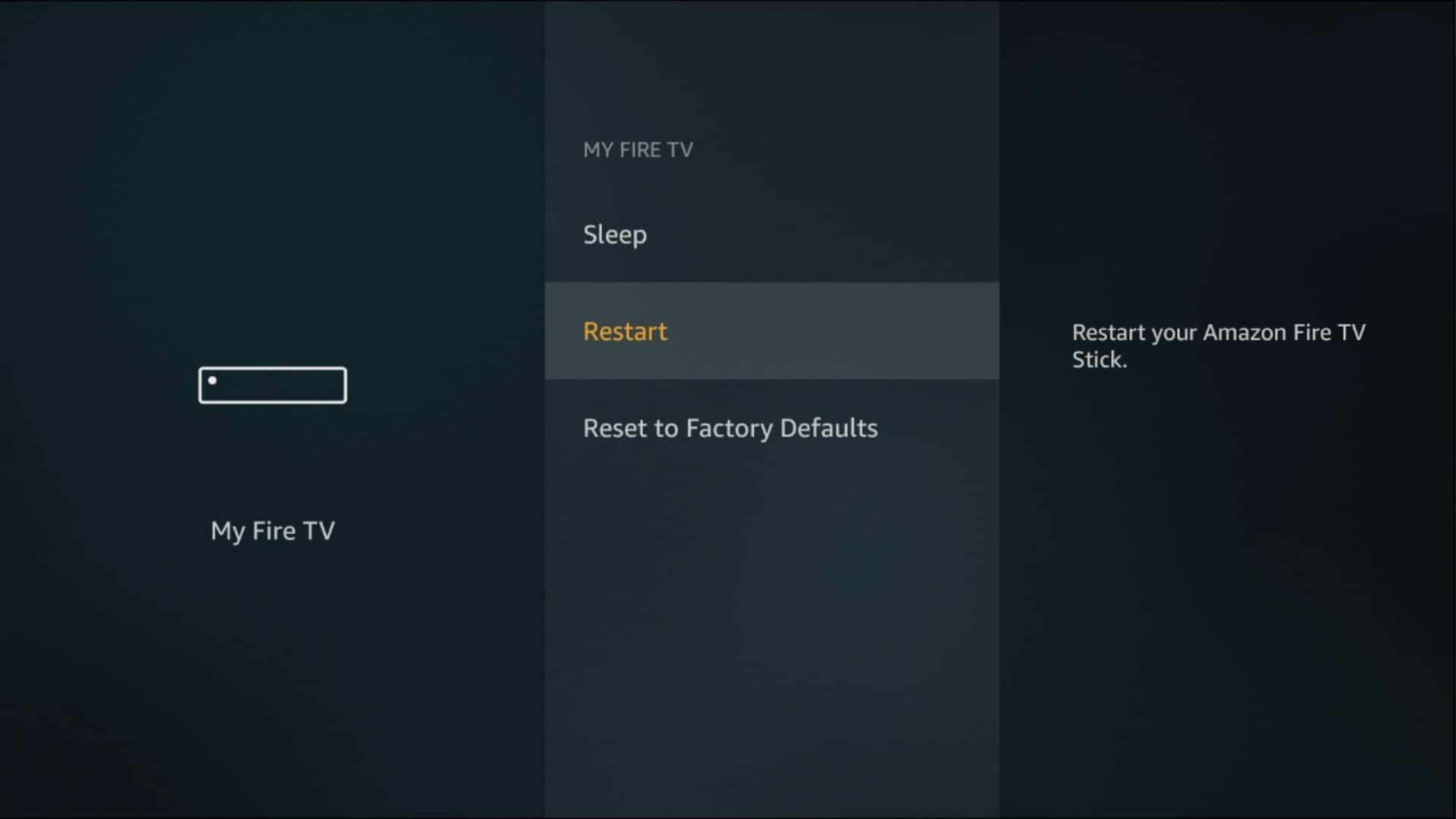fire tv restart