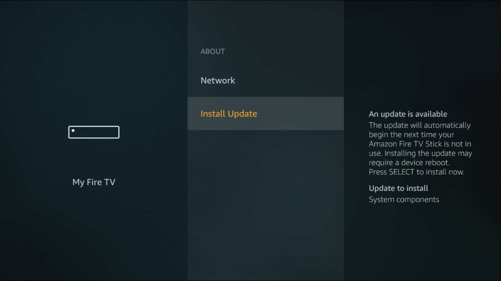fire tv update