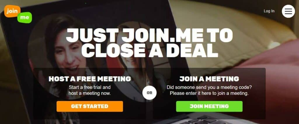 Join.me homepage.