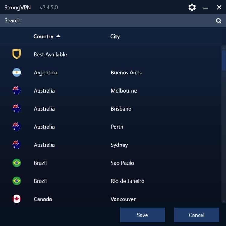 strongvpn 2020 countries