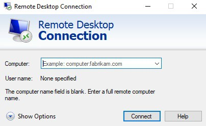 Remote Desktop Connection - Main