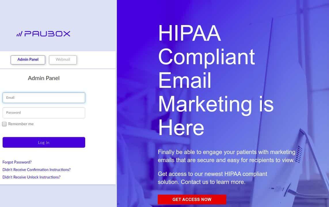 Paubox HIPAA Compliant email