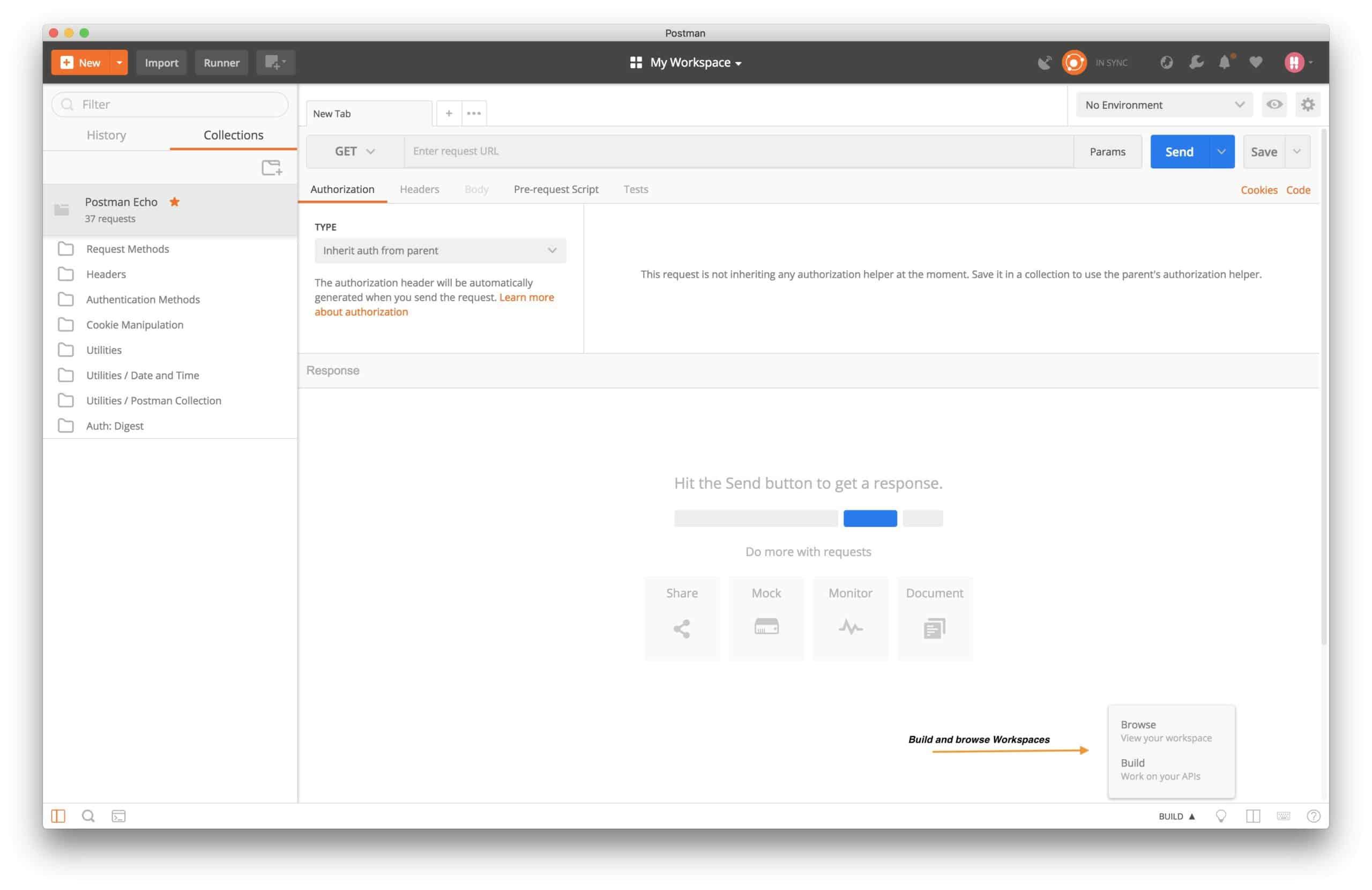 Postman WS-appView-build-menu
