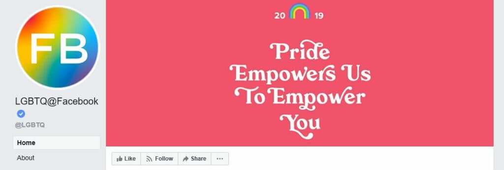 The LGBTQ@Facebook page.