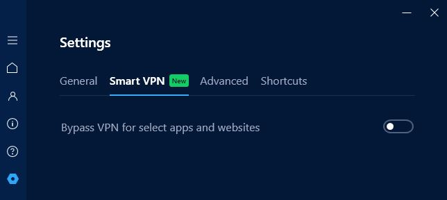 Hotspot Shield Smart VPN feature.