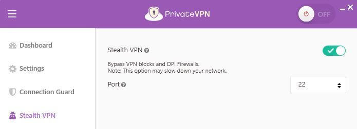 Stealth VPN option.