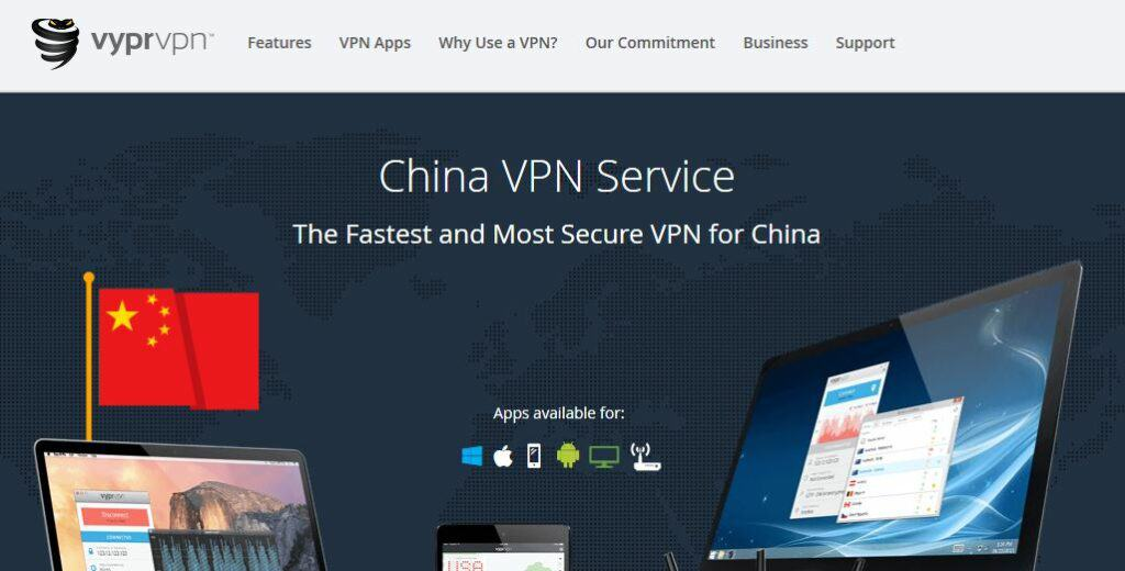 VyprVPN China page.