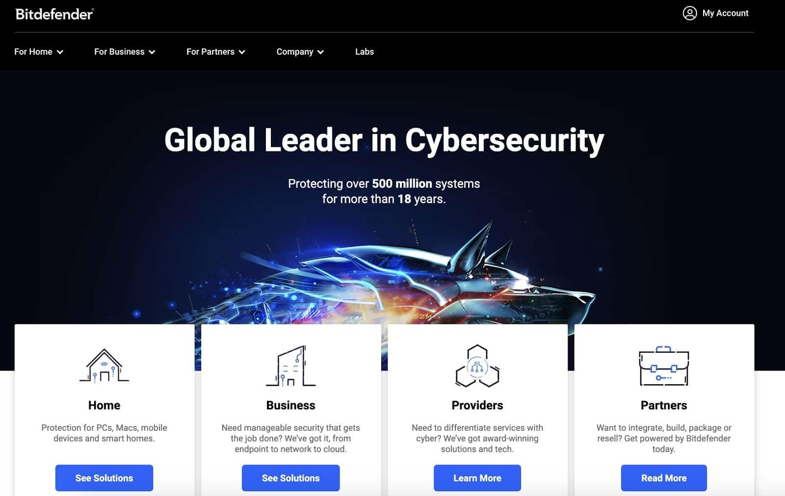 Bitdefender home page