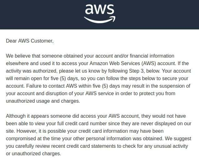 aws message