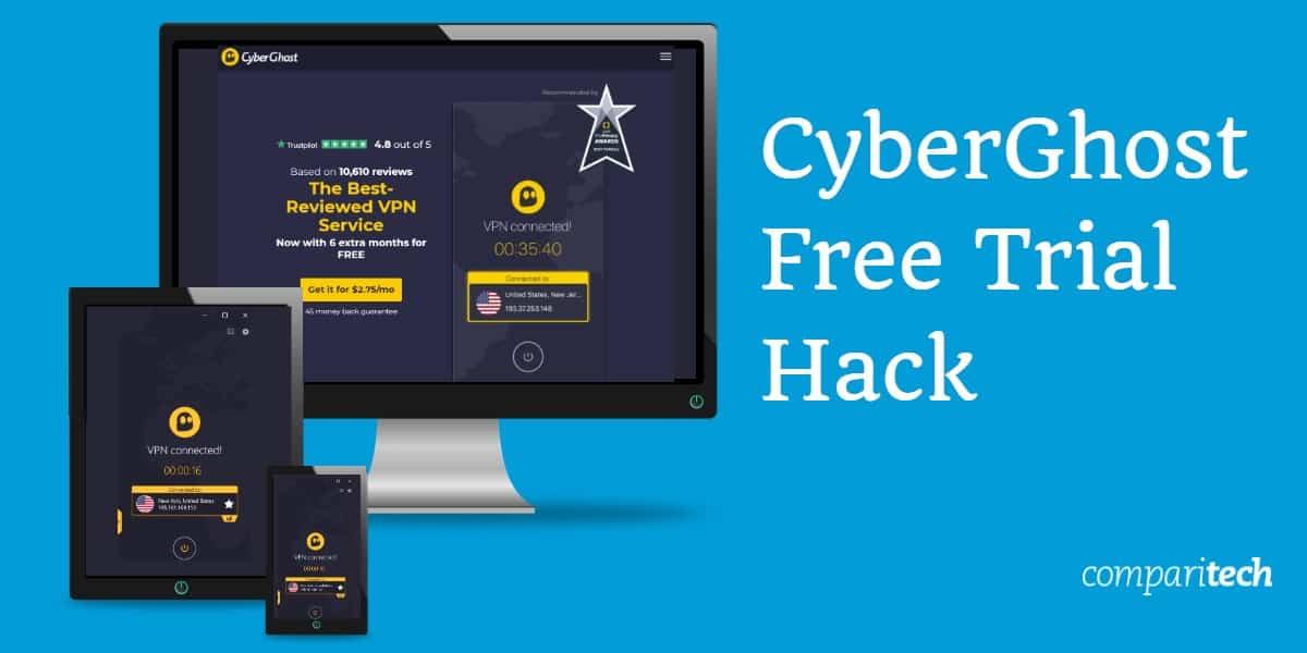 CyberGhost Free Trial Hack