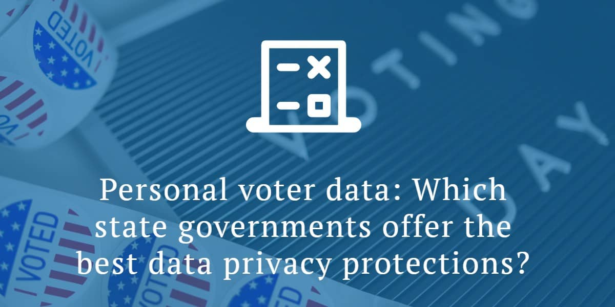 Voter Data Privacy
