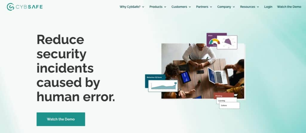 CybSafe training page.