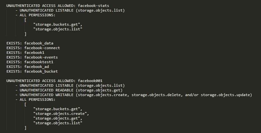 facebook bucket