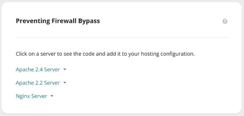 sucuri Preventing Firewall Bypass