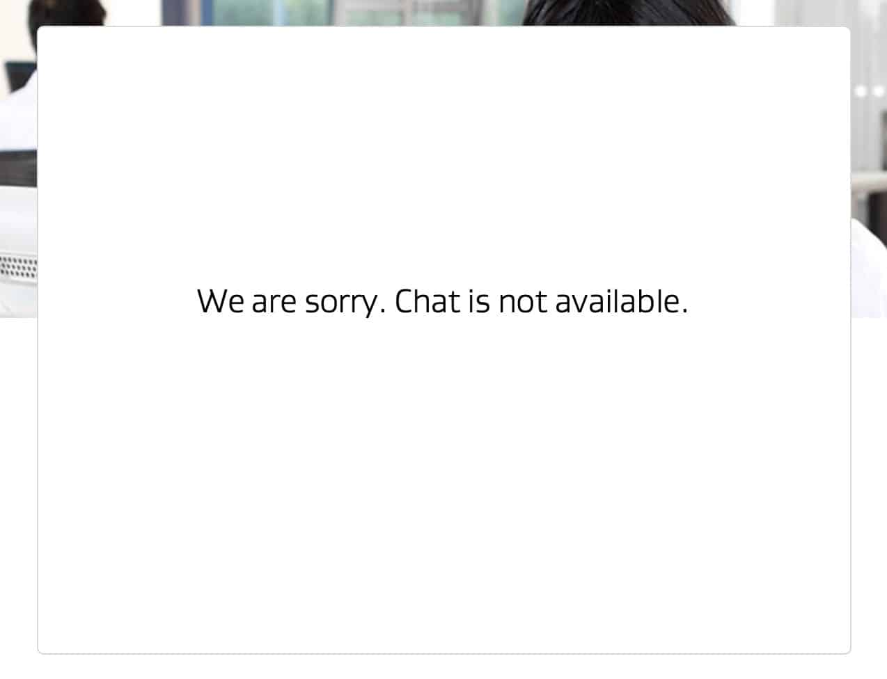 AVG Chat Unavailable