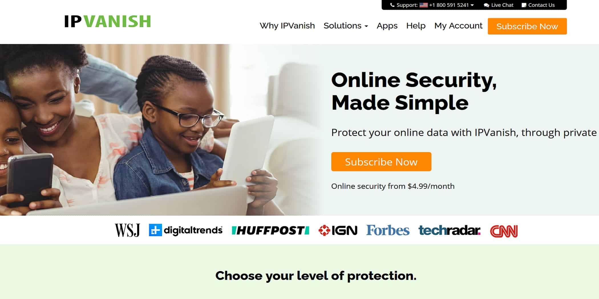 IPVanish free trial hack homepage