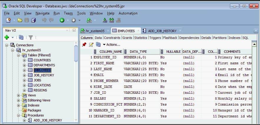 Oracle SQL Developer - Databases