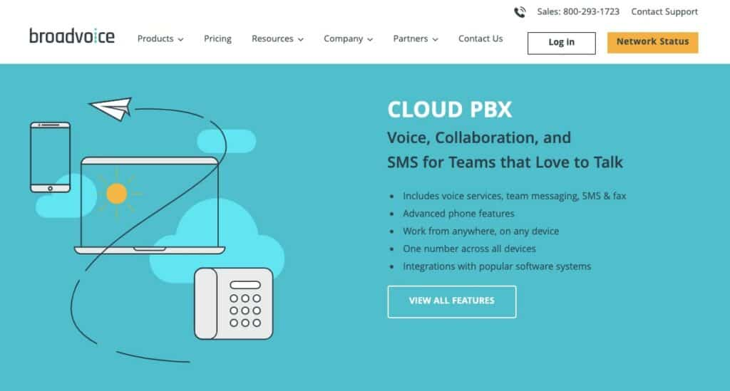 Broadvoice Cloud PBX page.