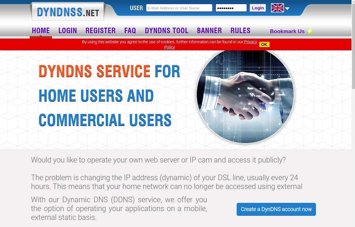 DynDNS Homepage