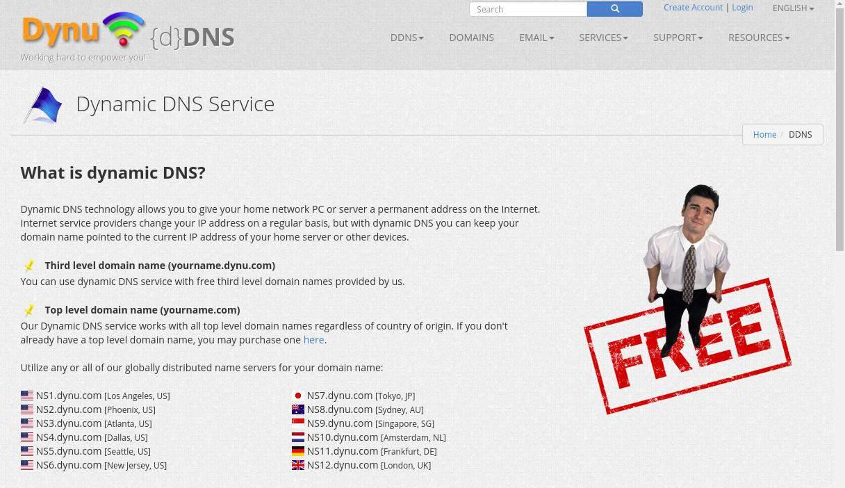 Dynu Dynamic DNS Service