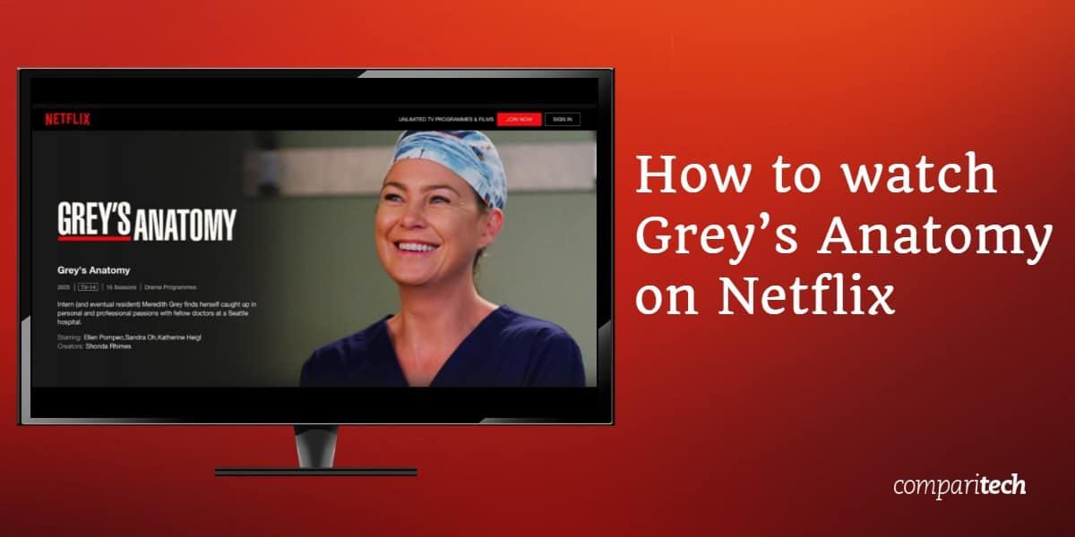 watch Grey's Anatomy on Netflix