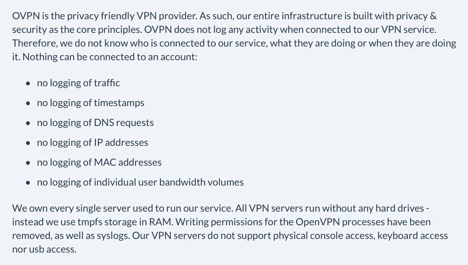 OVPN Privacy Policy