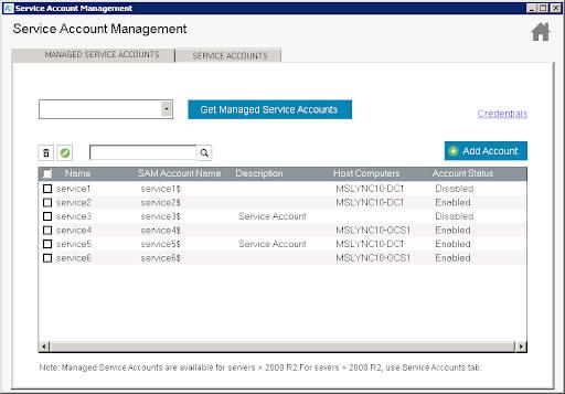 Service Account Management