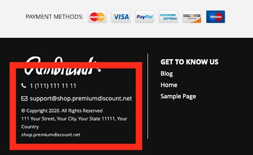 scam site fake contact info 2