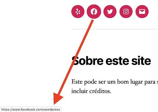 scam site social media button