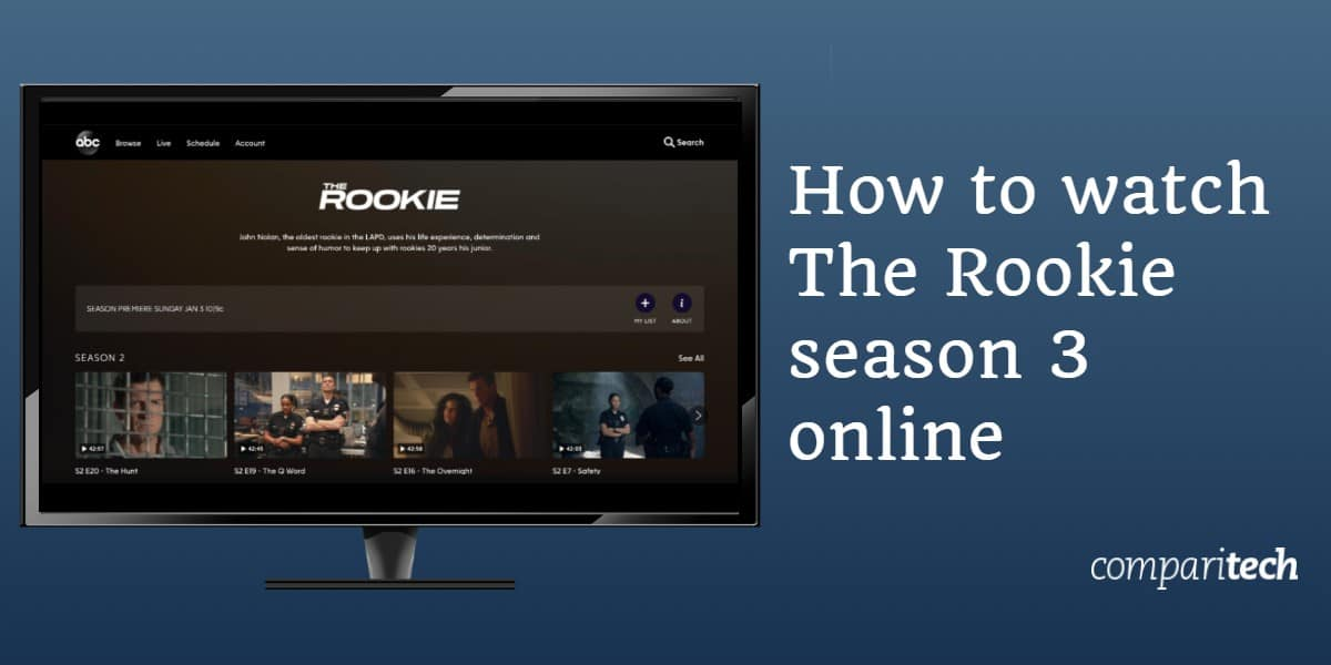 watch The Rookie season 3 online