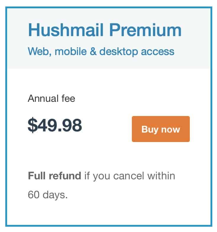 Hushmail - Pricing