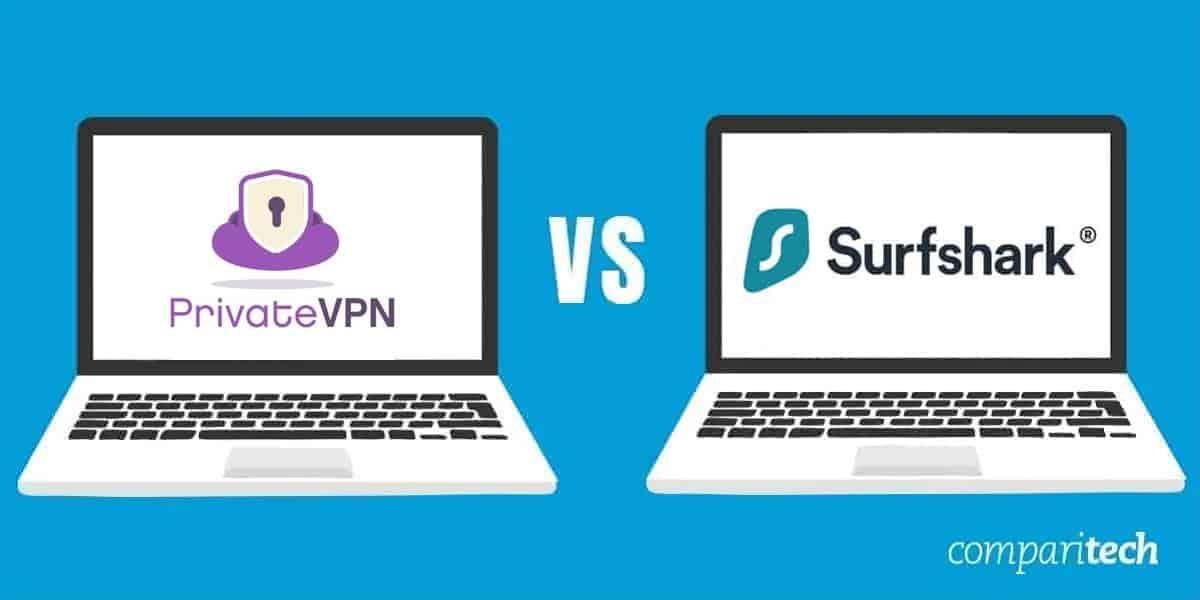PrivateVPN vs Surfshark