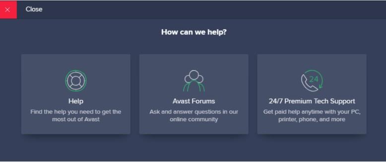 Avast help