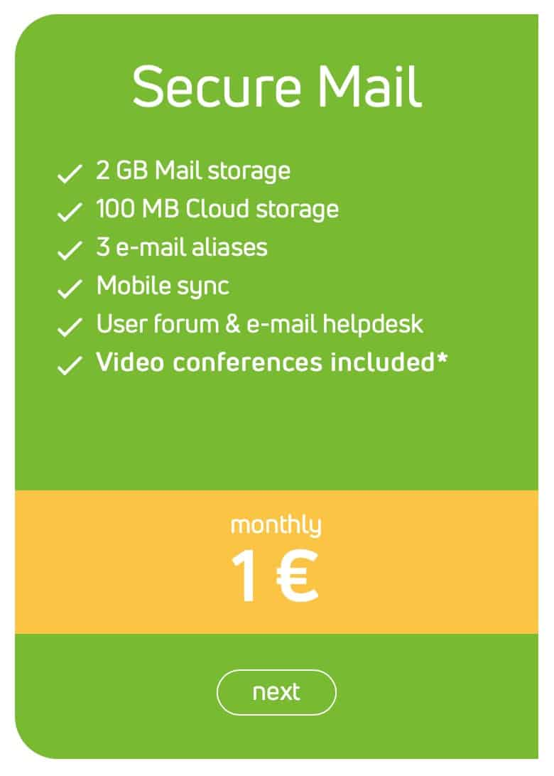 Mailbox.org - Pricing