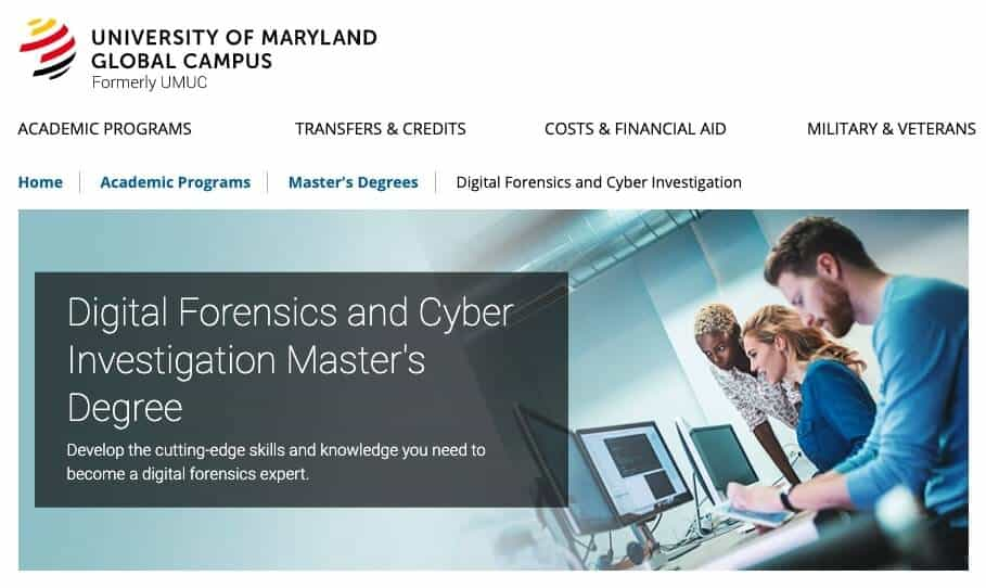 Digital Forensics and Cyber Investigation Master's Degree
