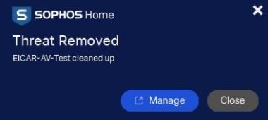 Sophos threat removed