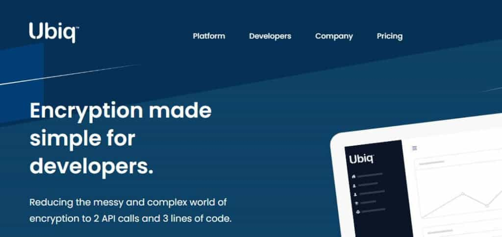 Ubiq homepage.