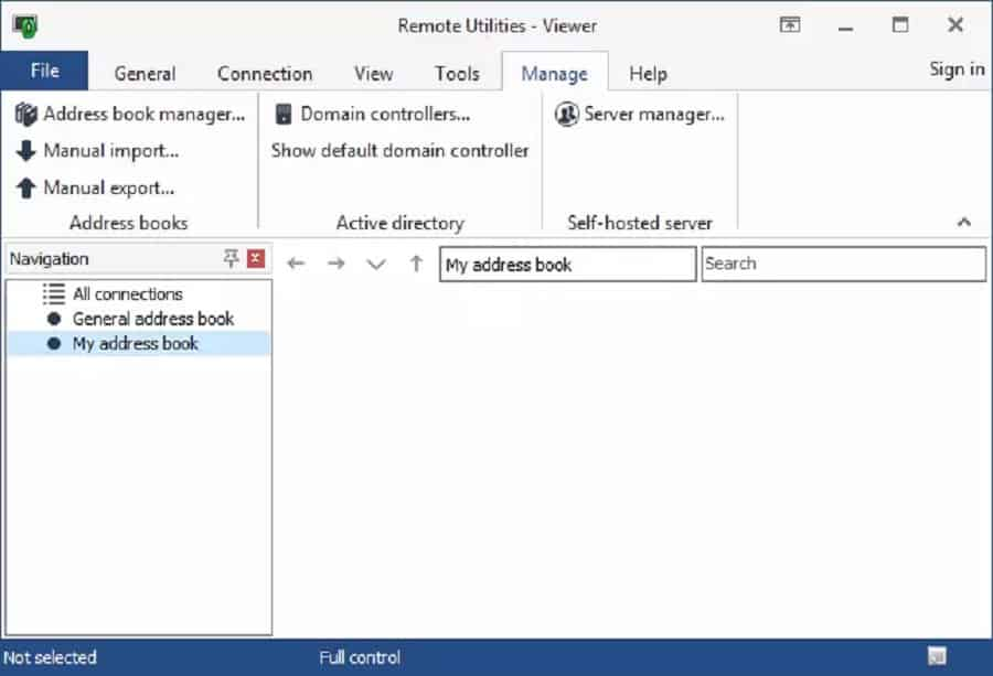 Remote Utilities for Windows Address Book