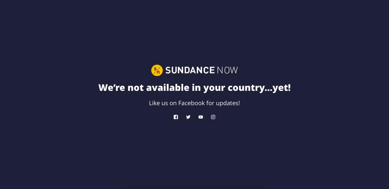 Sundance Now geographic restriction