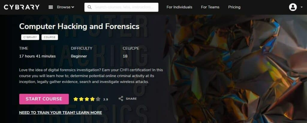 Cybrary digital forensics course
