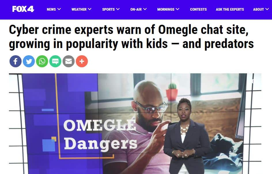 Fox4 Omegle news report.