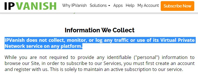 ipv privacy policy