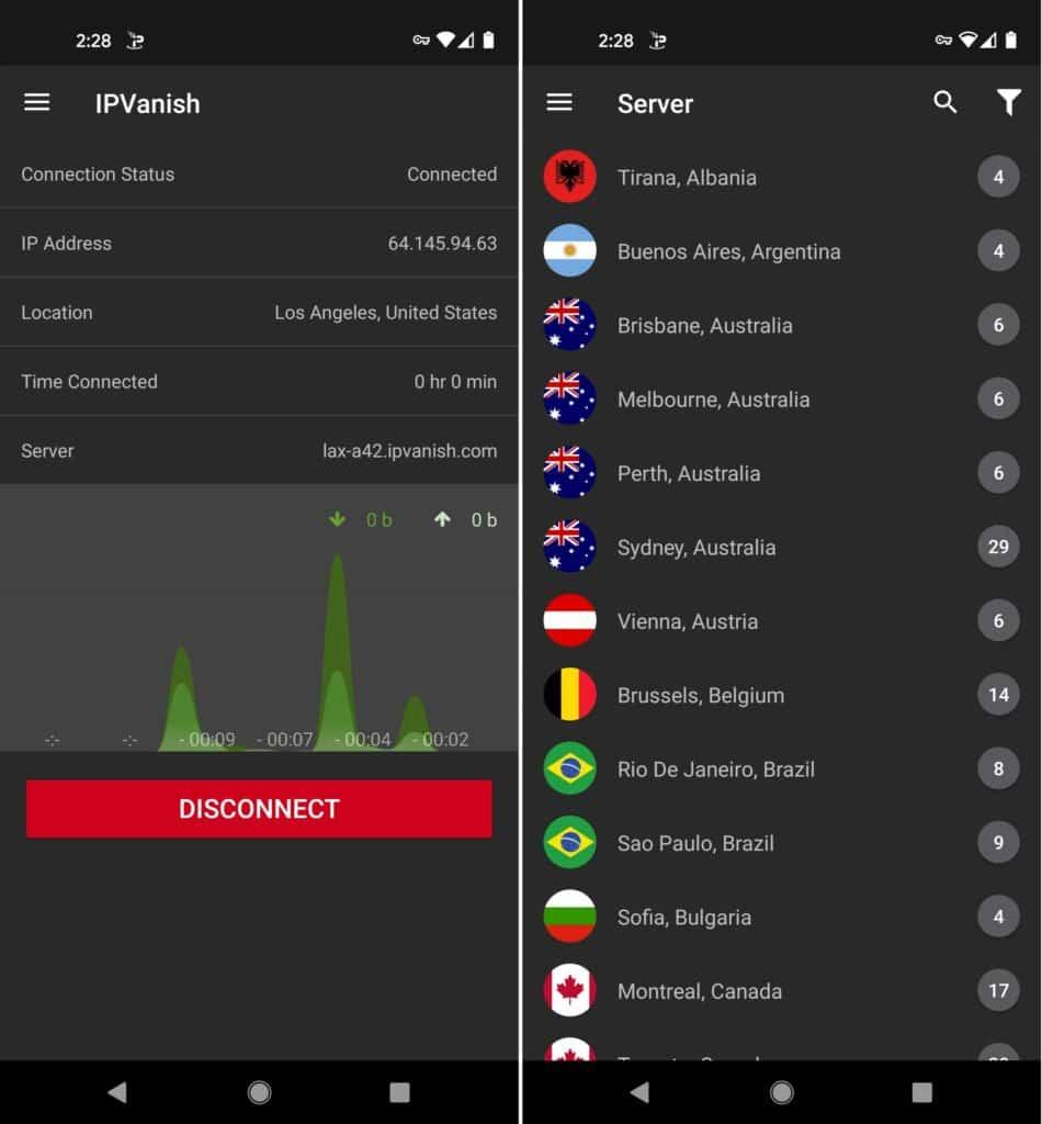 ipvanish mobile android