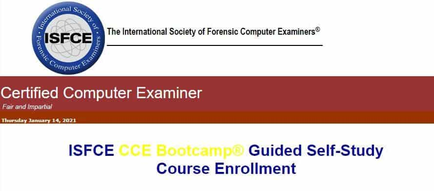 ISFCE digital forensics course