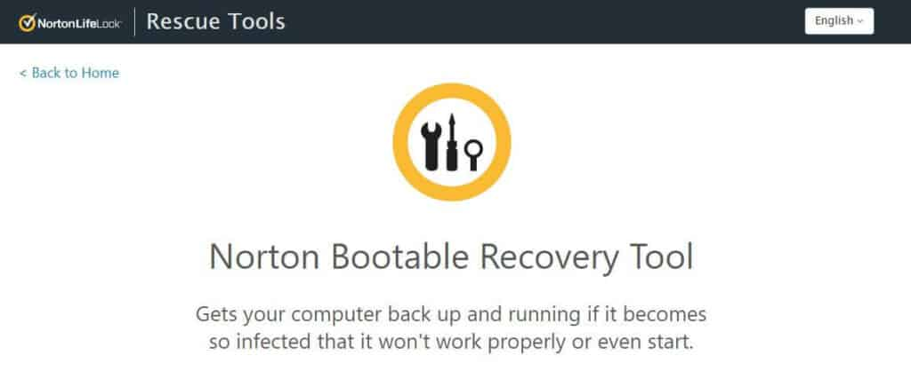 Norton bootable antivirus tools.