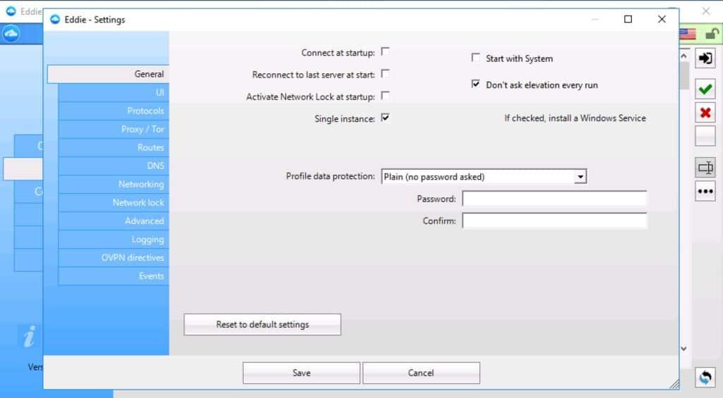 AirVPN - App - Settings